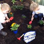 I let my children design their own garden
