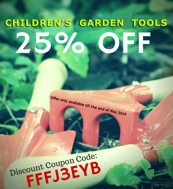 Get 25% off Little Green Fingers Garden Set for Children. Offer only available till the end of May 2014.